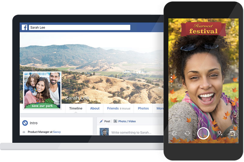 Facebook copia mais uma função do Snapchat: filtros por localização